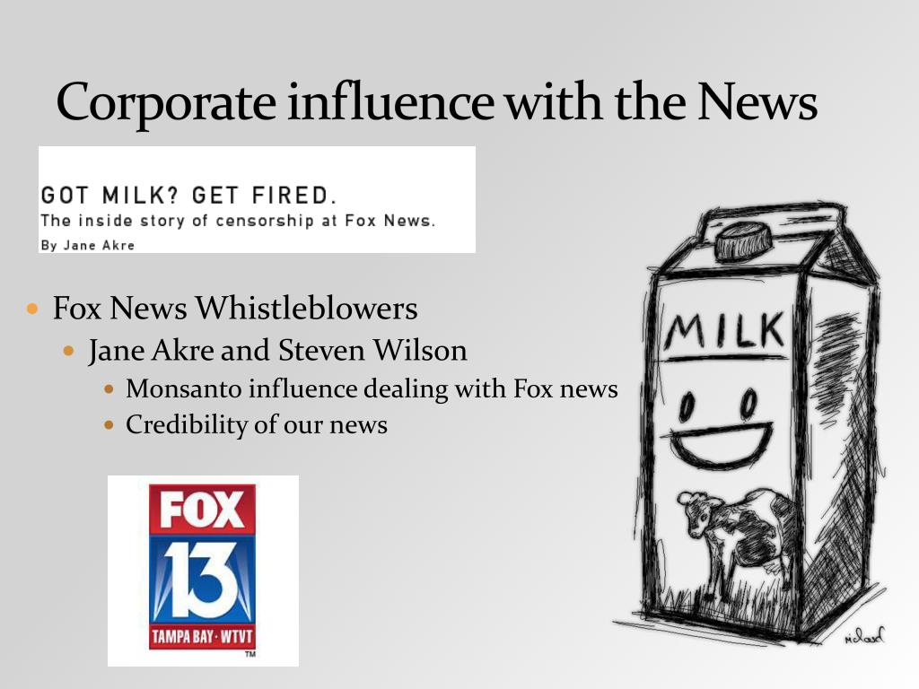 Corporate influence with the News