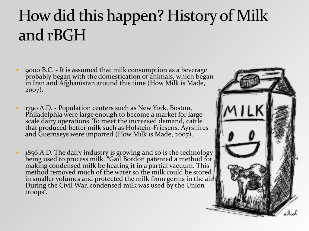 How did this happen? History of Milk and