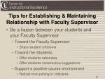 tips for establishing maintaining relationship with faculty supervisor1