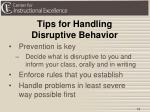 tips for handling disruptive behavior