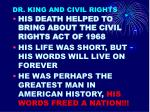 dr king and civil rights