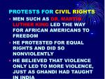 protests for civil rights
