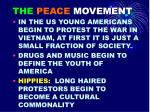 the peace movement
