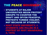 the peace movement1