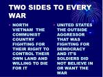two sides to every war