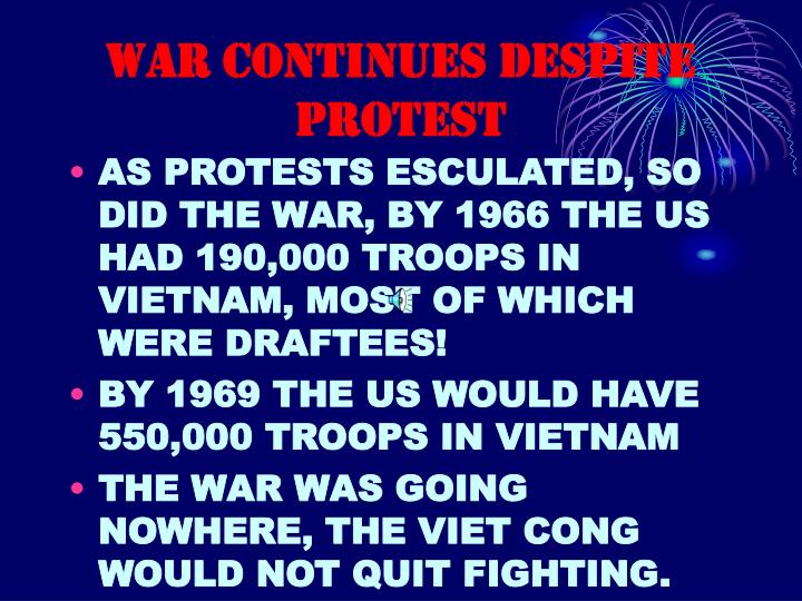 WAR CONTINUES DESPITE PROTEST