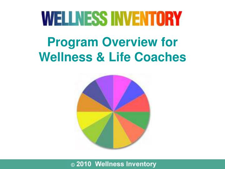 program overview for wellness life coaches n.