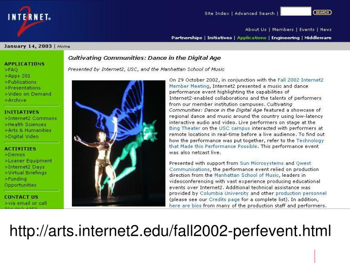 Http://arts.internet2.edu/fall2002-perfevent.html