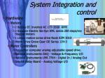 system integration and control
