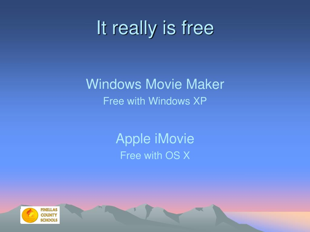 It really is free