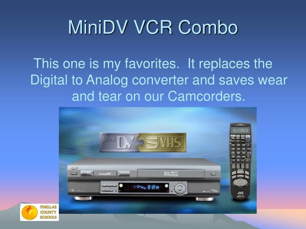 MiniDV VCR Combo