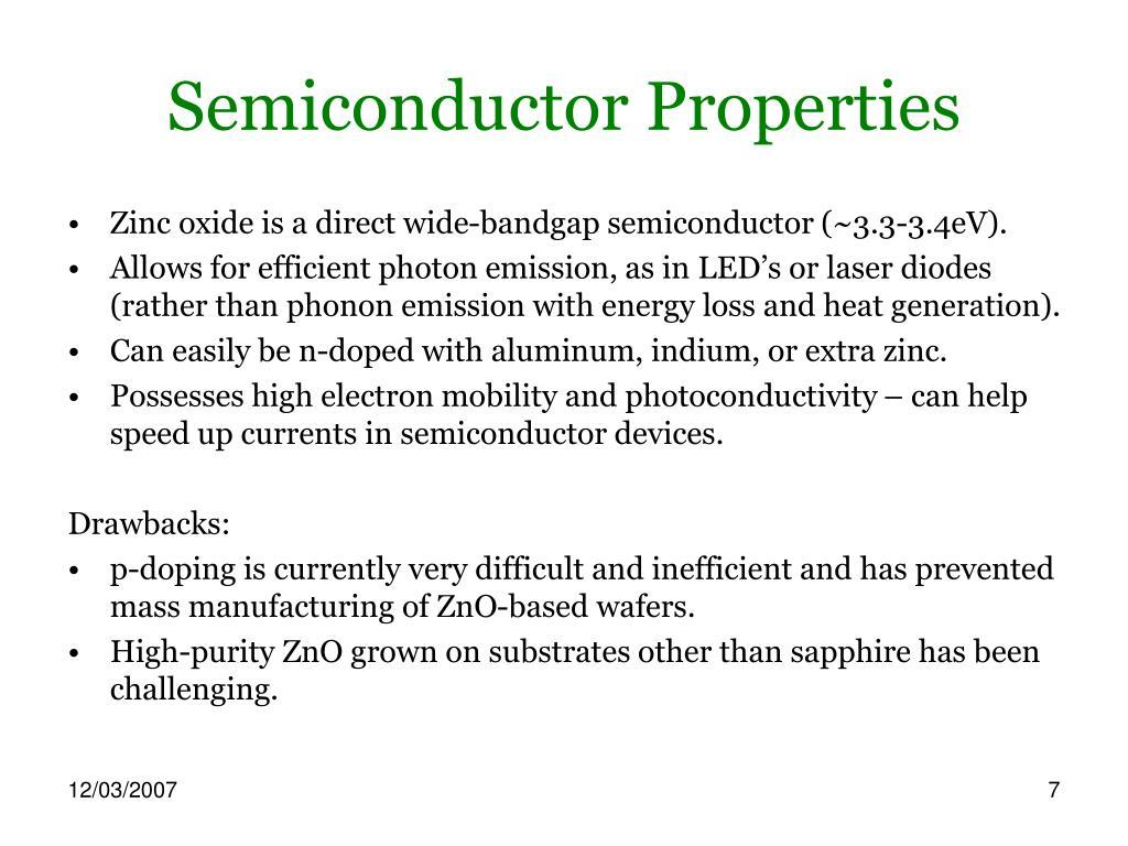 Semiconductor Properties