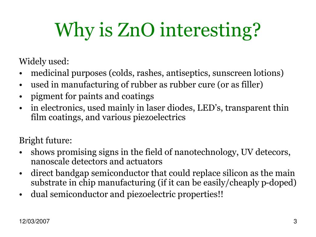 Why is ZnO interesting?