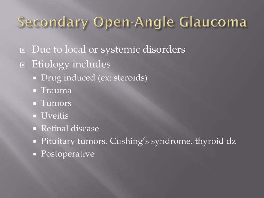 Secondary Open-Angle Glaucoma