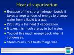 heat of vaporization
