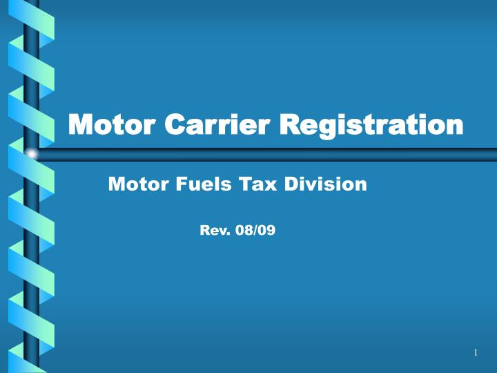 motor carrier registration n.