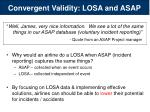 convergent validity losa and asap