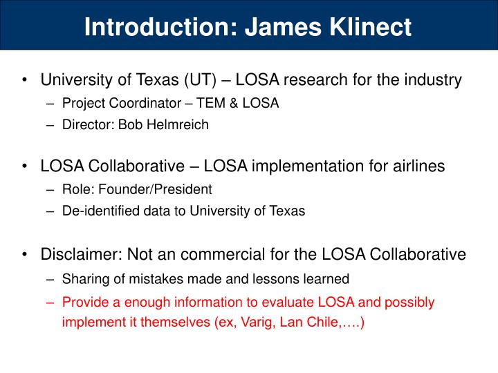 Introduction james klinect