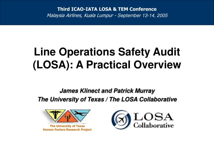 Line operations safety audit losa a practical overview