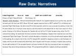 raw data narratives