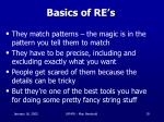 basics of re s