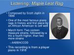listening maple leaf rag