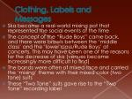 clothing labels and messages