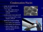 condensation nuclei