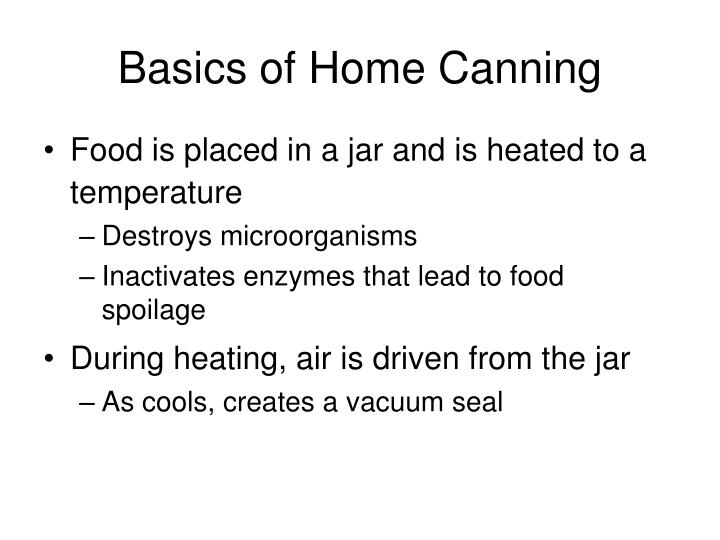 Basics of Home Canning