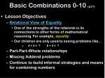 basic combinations 0 10 p21