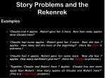 story problems and the rekenrek