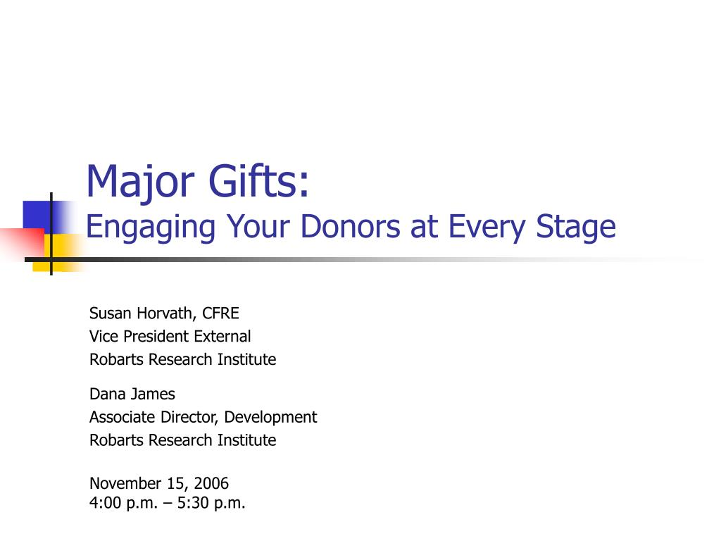 major gifts engaging your donors at every stage l.
