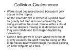 collision coalescence