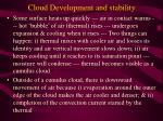 cloud development and stability