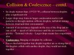 collision coalescence contd