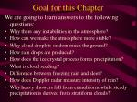 goal for this chapter