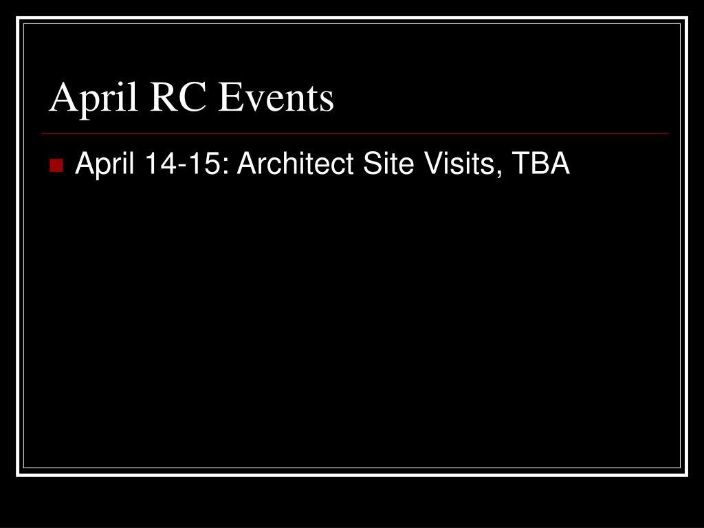 April RC Events