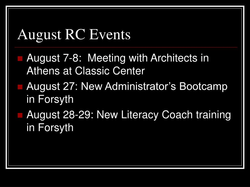 August RC Events
