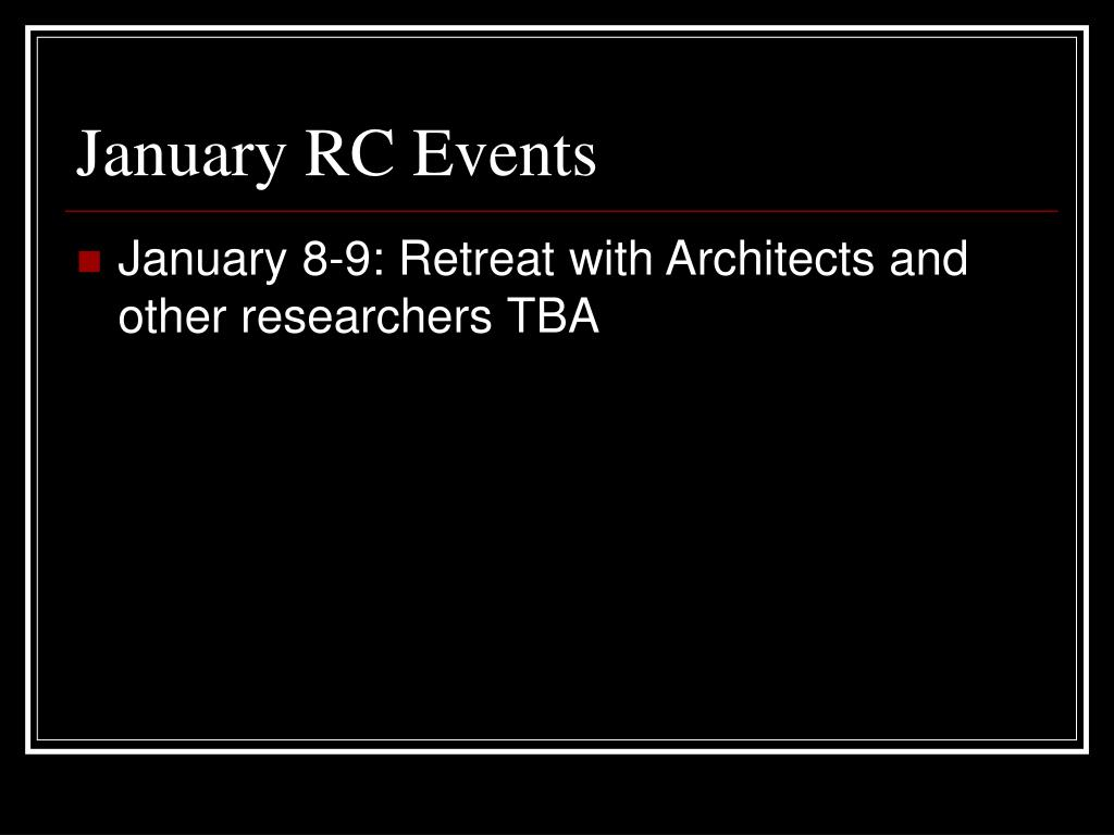 January RC Events