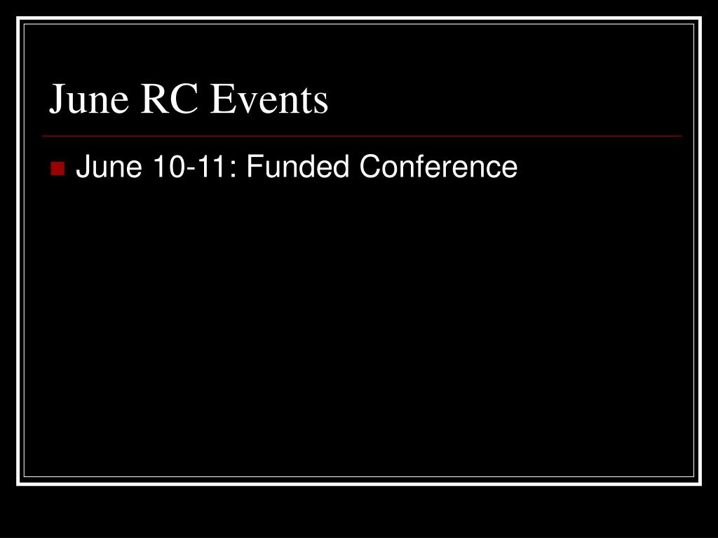 June RC Events