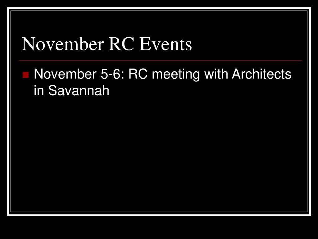 November RC Events