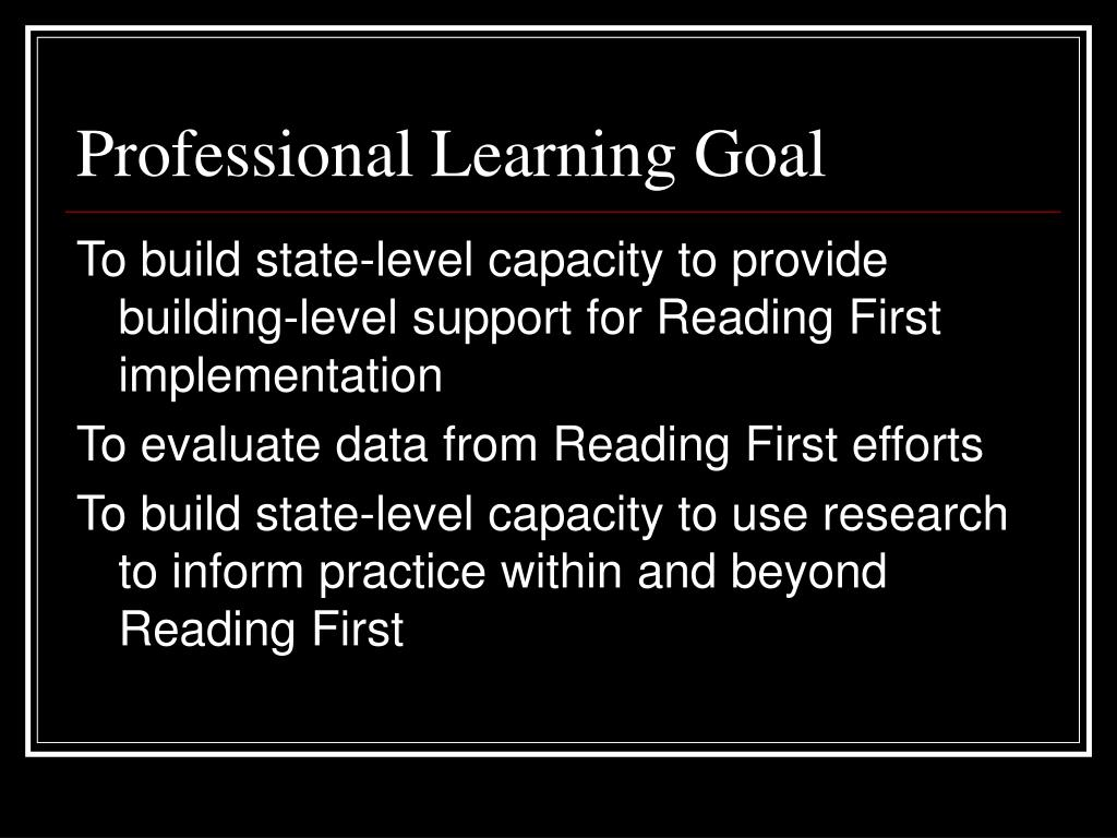 Professional Learning Goal