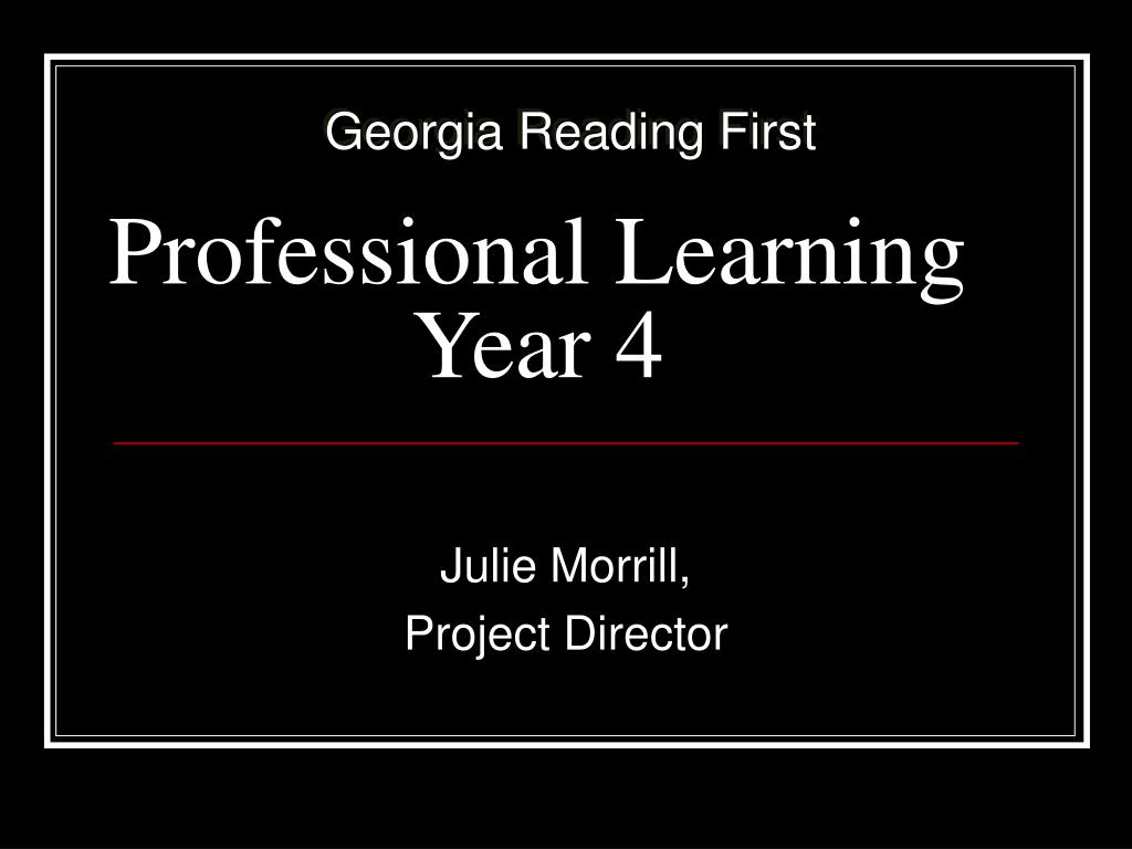 professional learning year 4 l.