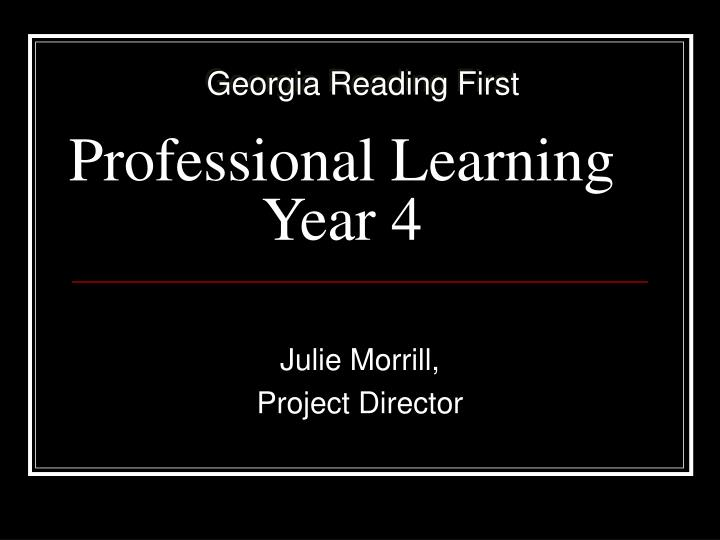 Professional learning year 4