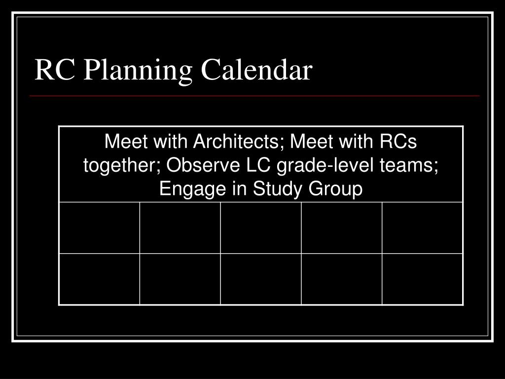 RC Planning Calendar