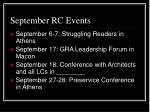 september rc events