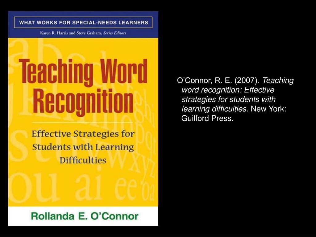 O'Connor, R. E. (2007).