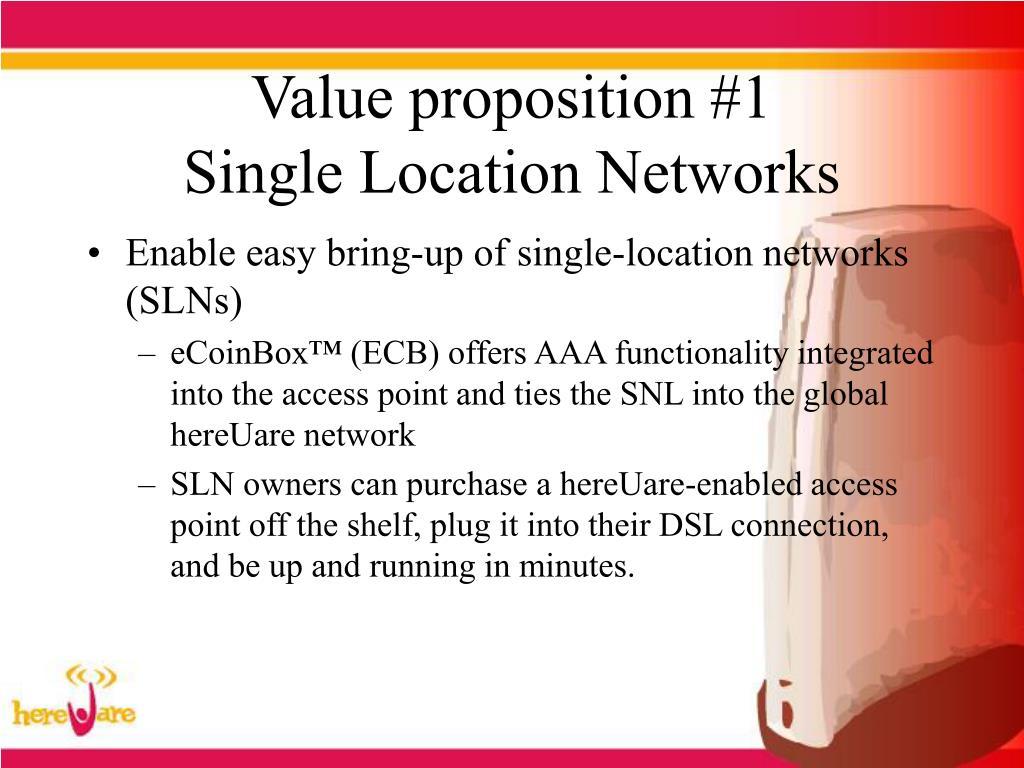 Value proposition #1