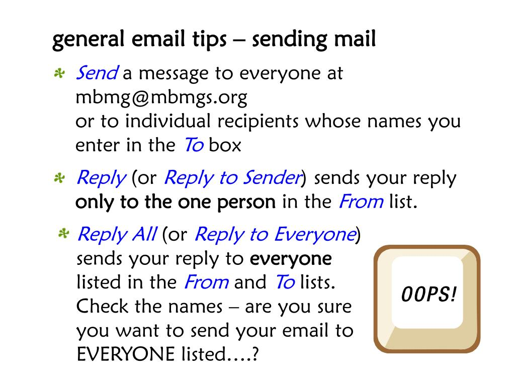 general email tips – sending mail