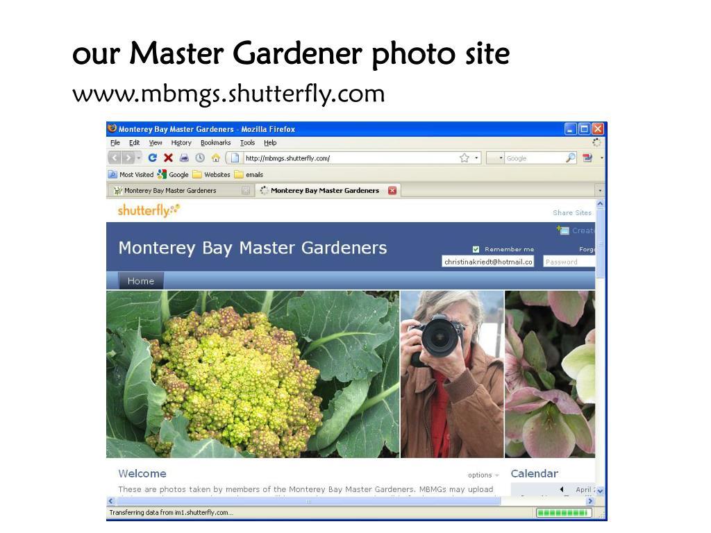 our Master Gardener photo site